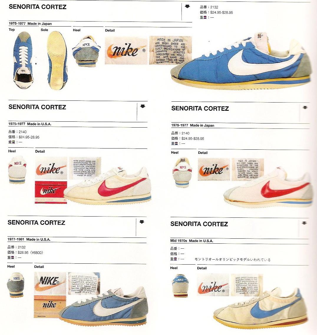 competitive price 228b5 0bd28 new concept 4ace0 12be1 nike senorita cortez 1975 1981 ...