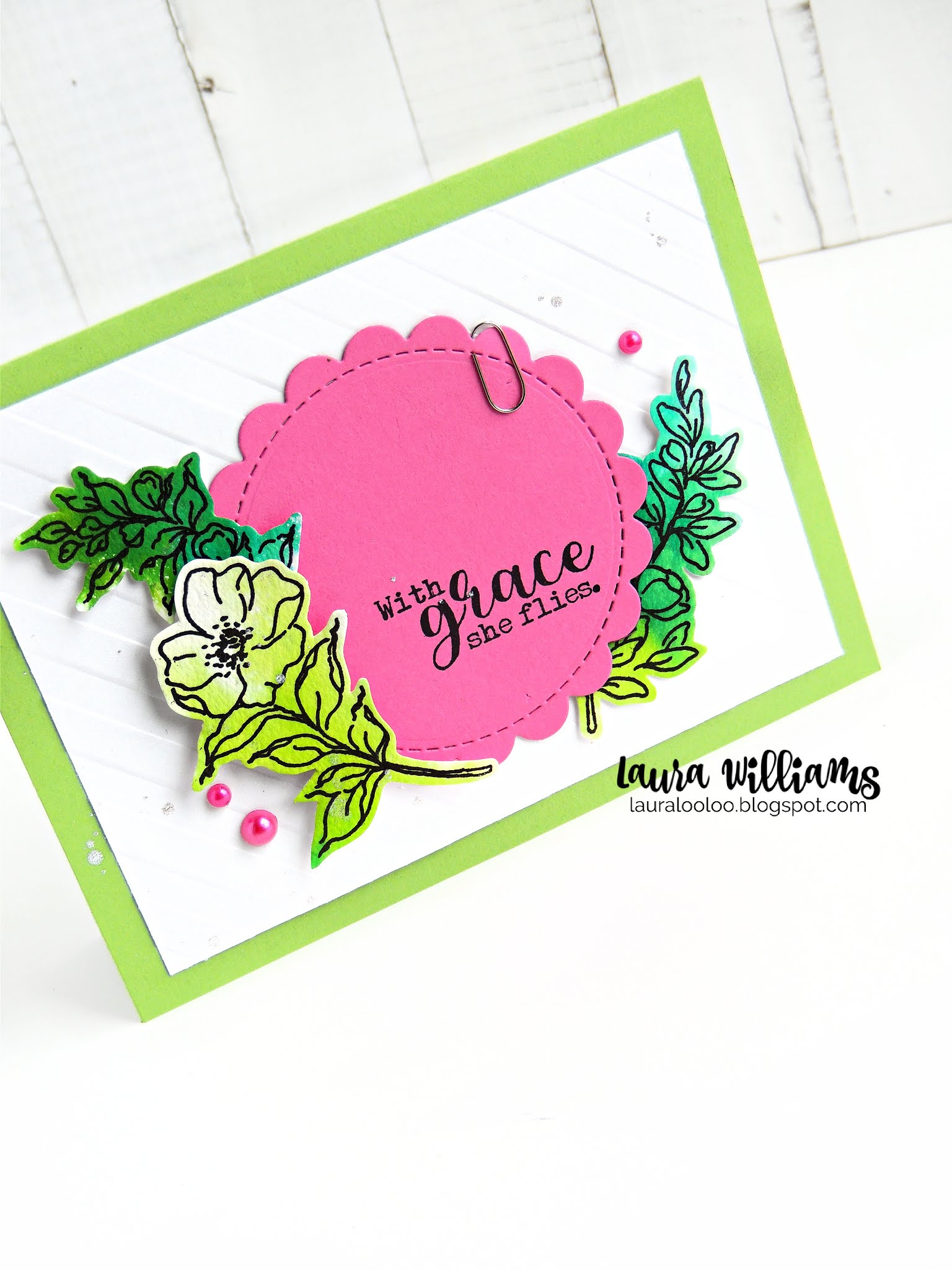 Make a colorful floral card to encourage and inspire someone with the She Positives and Wild Rose Heart stamp sets from Impression Obsession. Handmade cards are so much fun to make with rubber stamps, clear stamps, and die cutting. Visit my blog for details about this card set and so many more cardmaking ideas!