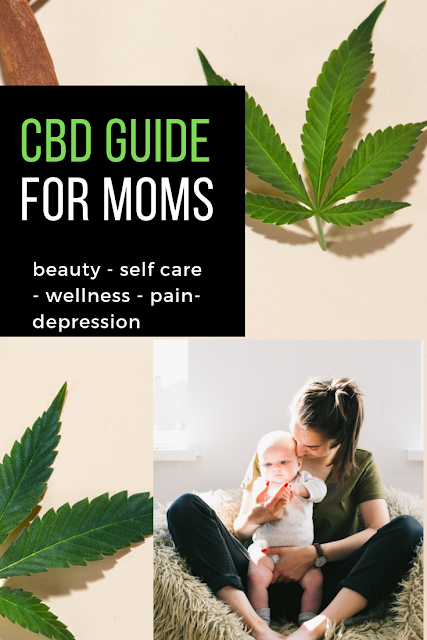 CBD Guide for Moms - for better sleep, wellness, beauty, selfcare, sex, pain relief products and more
