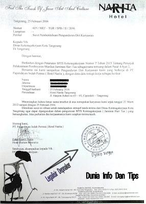 Ini Dia Contoh Surat Paklaring Yang Di Legalisir Departemen Tenaga