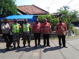Personel Gabungan di Banjarwangunan Gelar Operasi Masker