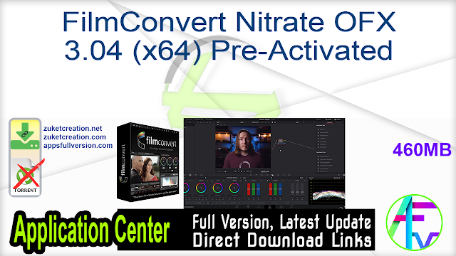 FilmConvert Nitrate OFX 3.04 (x64) Pre-Activated