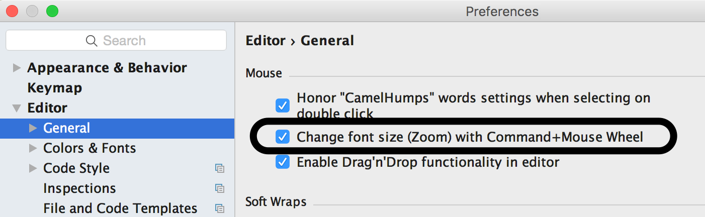 Change Font Size With Mouse In IntelliJ IDEA - Messages from mrhaki