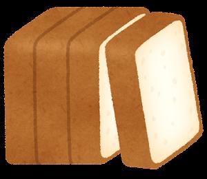 4枚に切られた食パンのイラスト