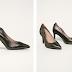 Pantofi dama de zi de piele naturala negrii-aurii la reducere
