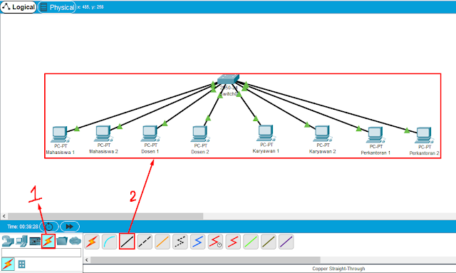 Cable Connections Cisco Packet Tracer