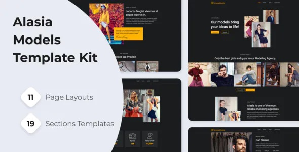 Best Model Agency Elementor Template Kit