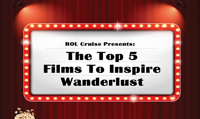 The Top 5 films to inspire wanderlust #infographic