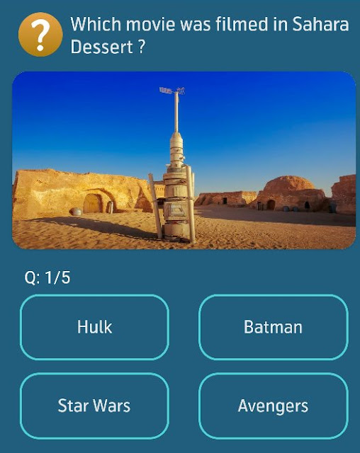Which movie was filmed in Sahara Desert?