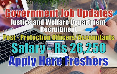 Justice and Welfare Department Recruitment 2020