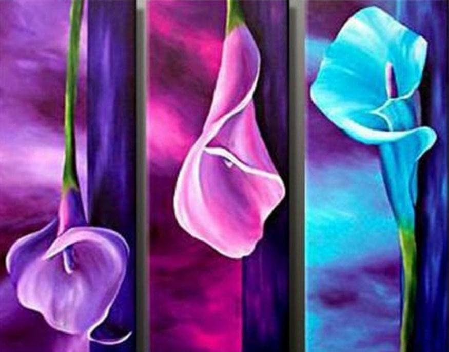 Cuadros Florales Modernos Amazing Pinturas De Flores Modernas