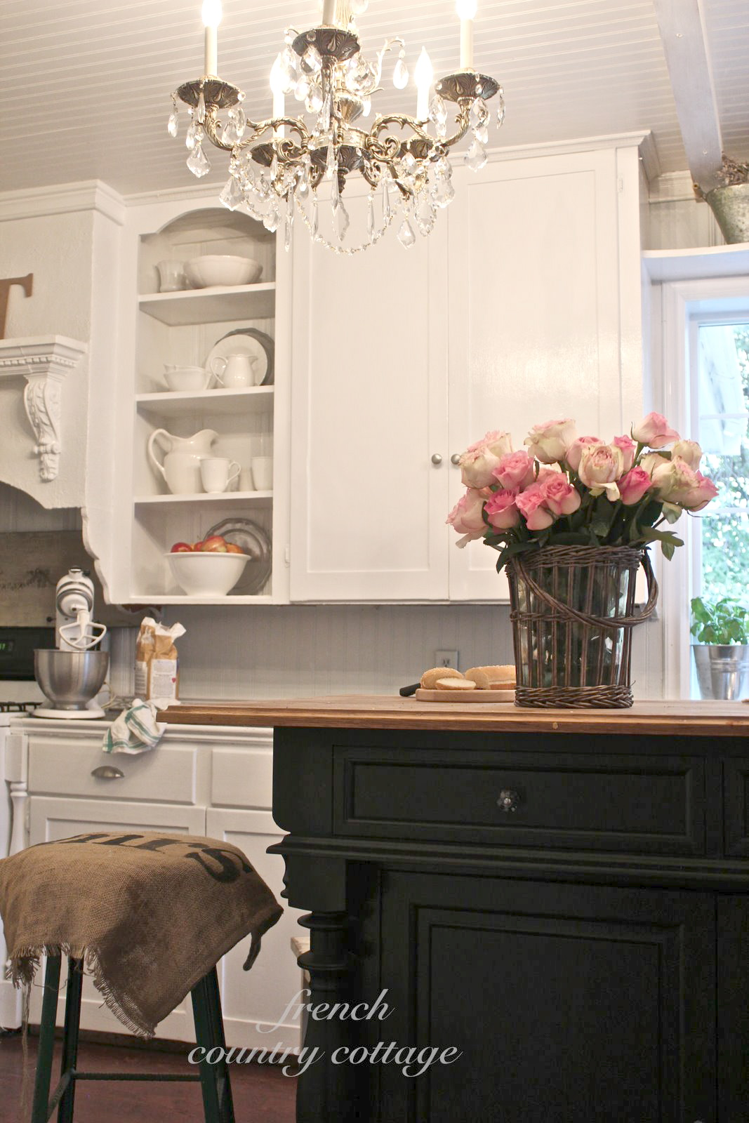 country shelves for kitchen refinishing cabinets cost creating open in the french cottage