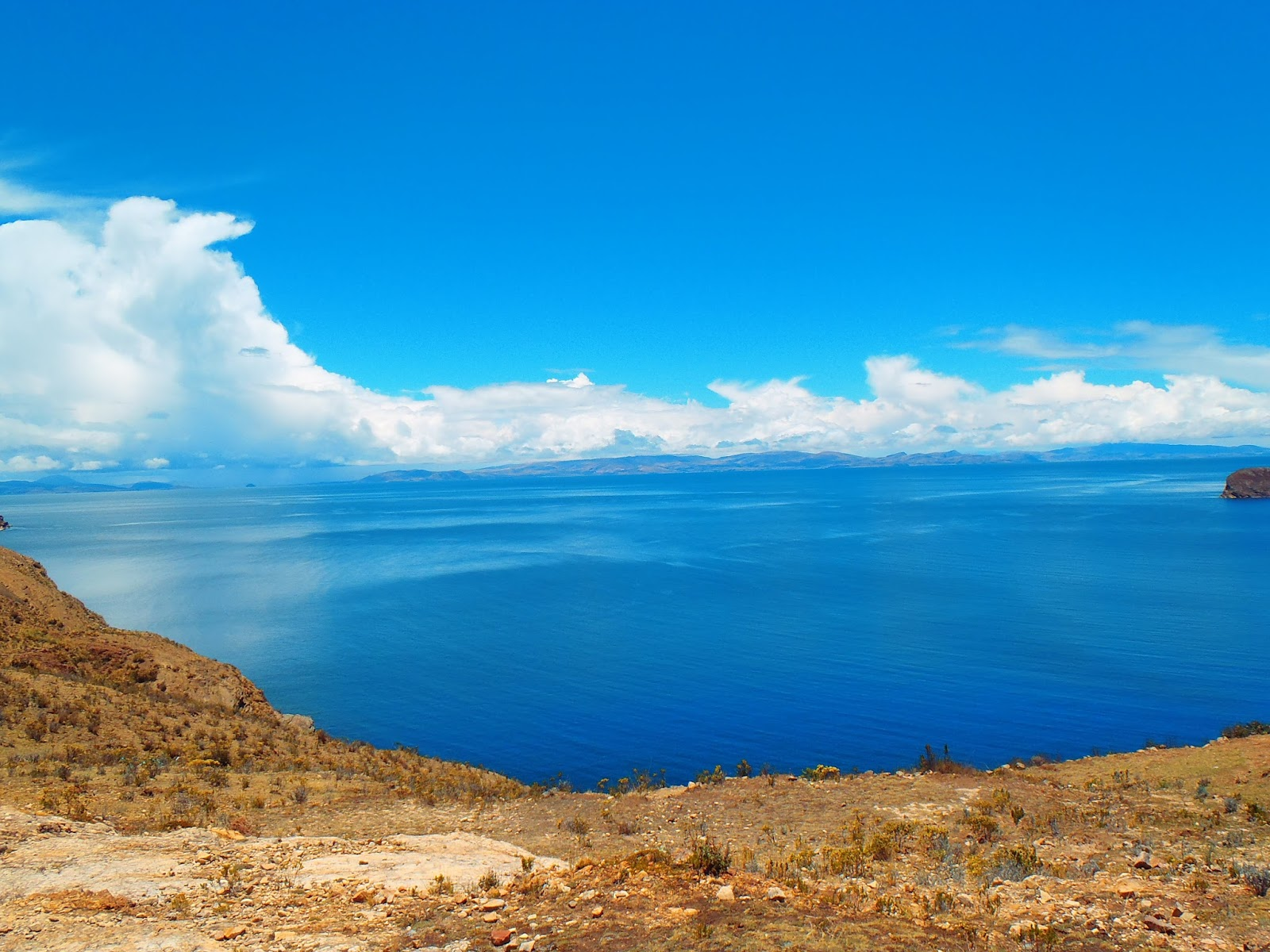 Views of Lake Titicaca from Isla del Sol