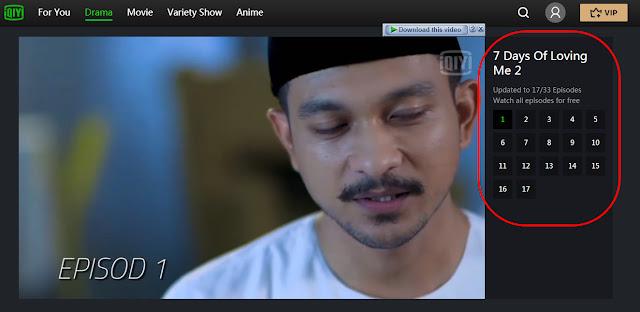 Cara Tonton Drama 7 Hari Mencintaiku 2 Secara Online Dan Percuma Melalui Aplikasi IQIYI