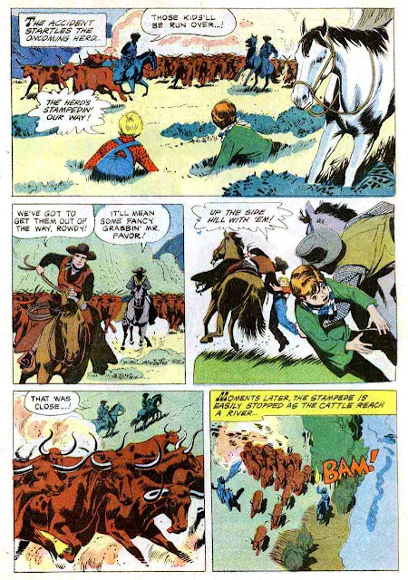 Rawhide / Four Color Comics #1097 dell tv western comic book page art by Russ Manning