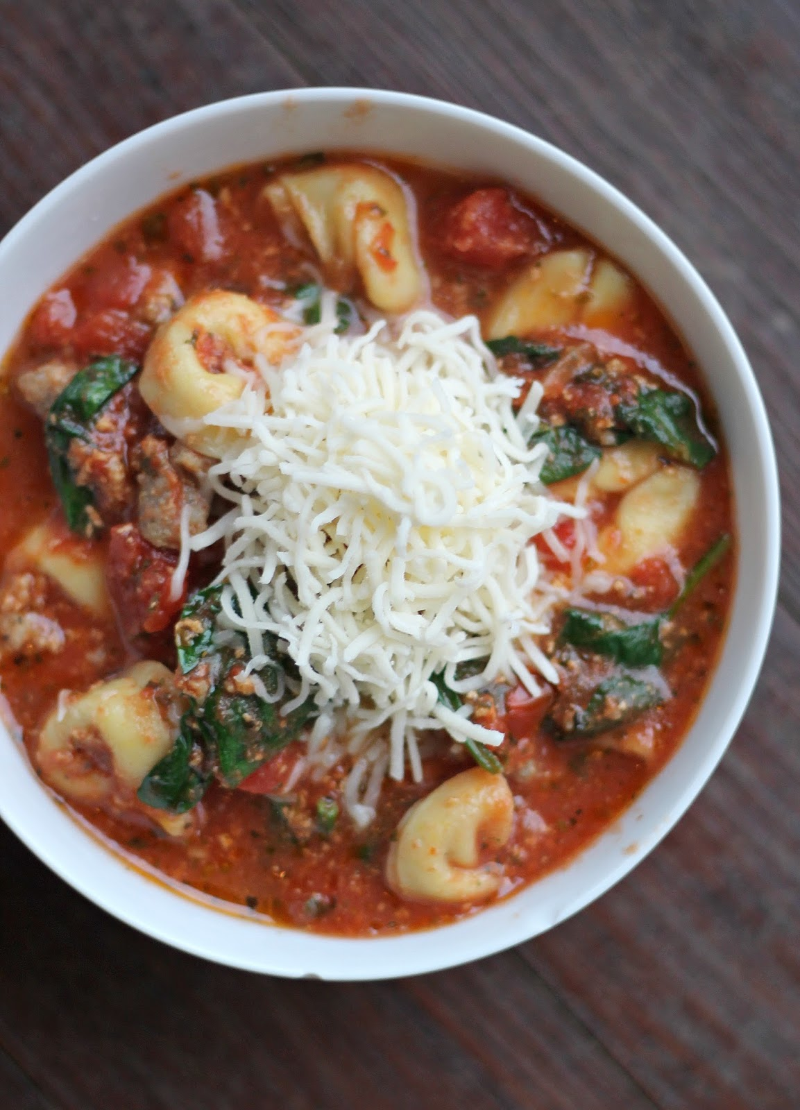 North Carolina lifestyle blogger, Christina shares a delicious Sausage & Cheese Tortellini soup recipe!