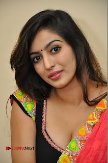 Actress Vaibhavi Joshi Pictures in Red Saree at Guntur Talkies 2 Movie Opening  0010.JPG