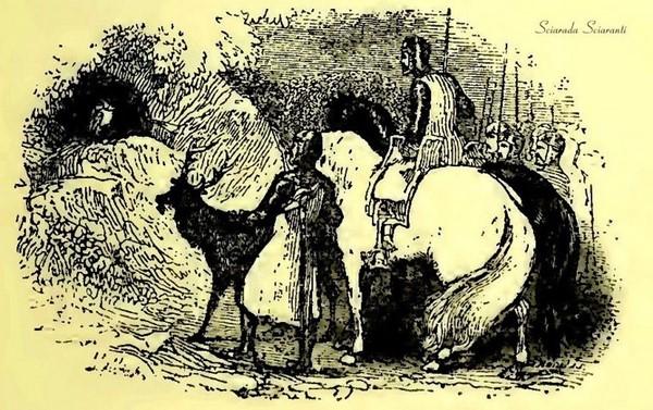 Il Cervo di Redynvre porta i cavalieri dal Gufo di Cwm Cawlwyd - Kilhwch e Olwen - Lady Charlotte Schreiber - 1902