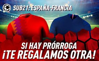 sportium promo Sub21 España vs Francia 27 junio 2019