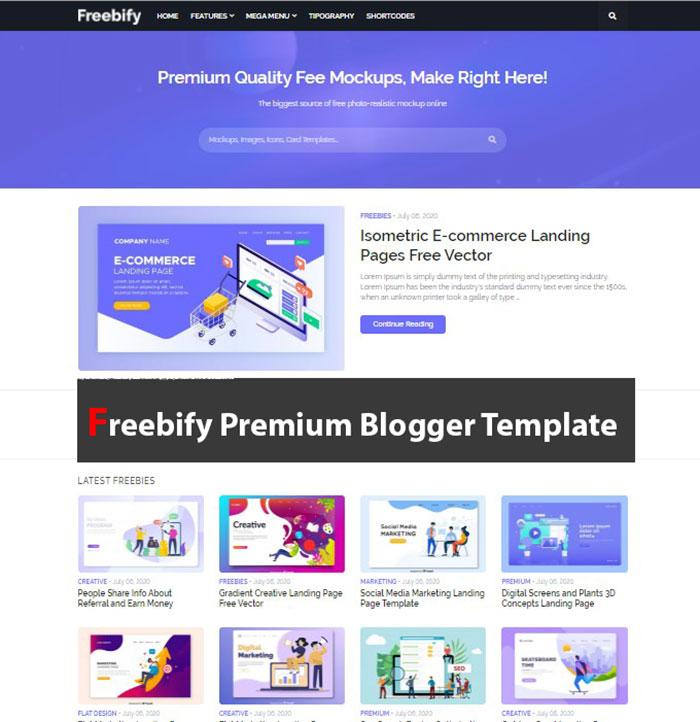 Freebify Premium Blogger Template