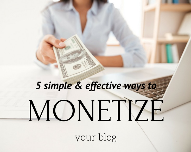 5 easy ways to make money from your blog