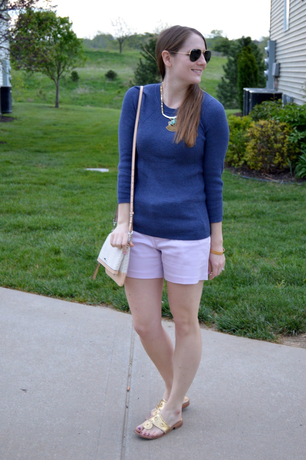 what to wear this spring | spring outfit ideas | indigo and lilac | a memory of us | jack rogers |