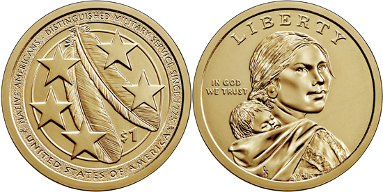 USA 1 dollar 2021 - Native Americans in the U.S. Military