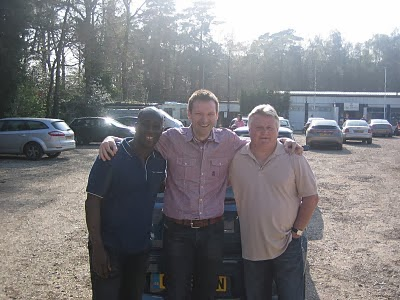 Me with Clive Wilson and Gary Brooke