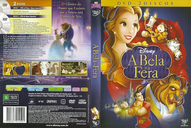 Capa DVD A Bela e a Fera (Duplo)