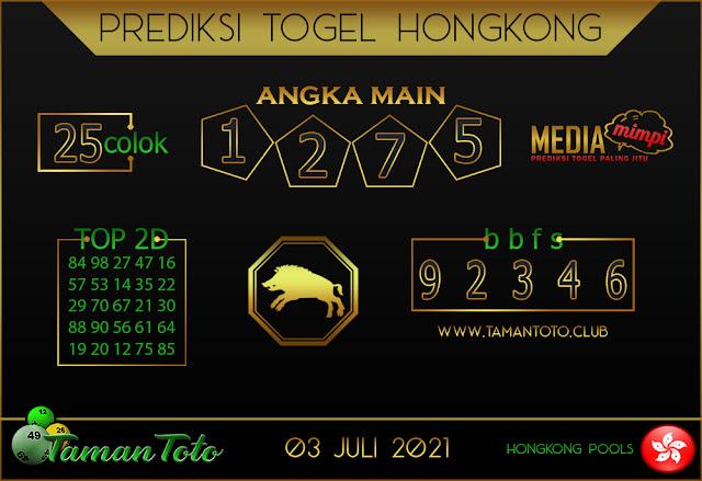 Prediksi Togel HONGKONG TAMAN TOTO 03 JULI 2021