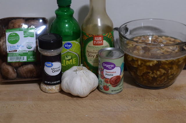 The ingredients needed for the walnut taco meat
