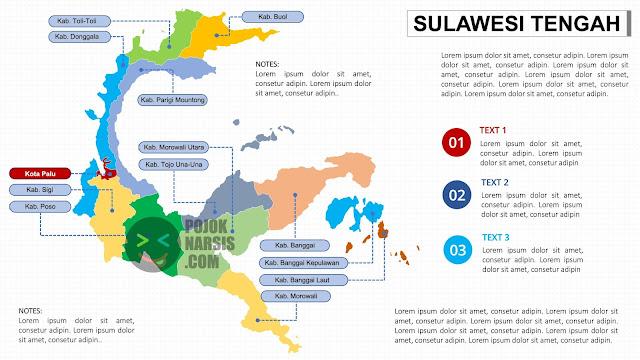 Peta Sulawesi Tengah Powerpoint