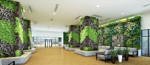 Phòng sinh hoạt cộng đồng tràn ngập cây xanh tại Eco Dream