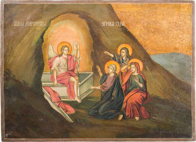The three Marys at the tomb Russia, 18. Century
