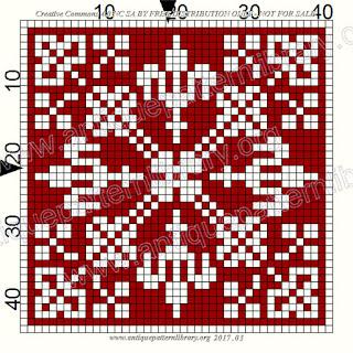 Raffinate piastrelle monocolore a punto croce