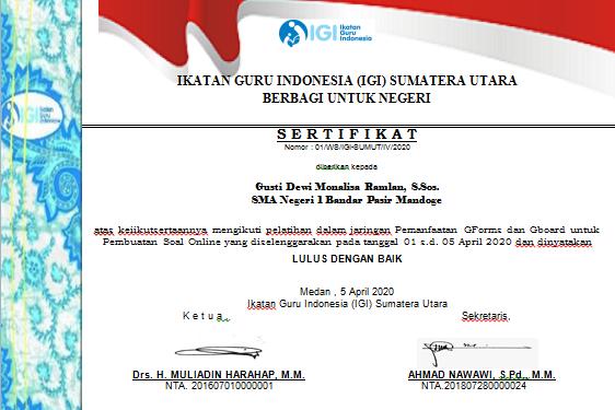 sertifikat IGI
