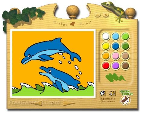 download gratis permainan edukasi education games mewarnai gambar gingkgo paint