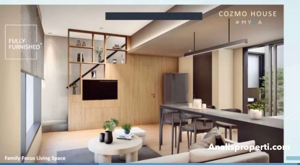 Ruang Keluarga Rumah CozmoHouse Myza BSD City