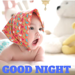 Baby girls good night image
