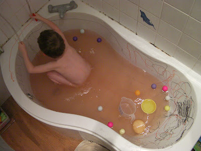 bath dirtier than when you started. using face-painting pens