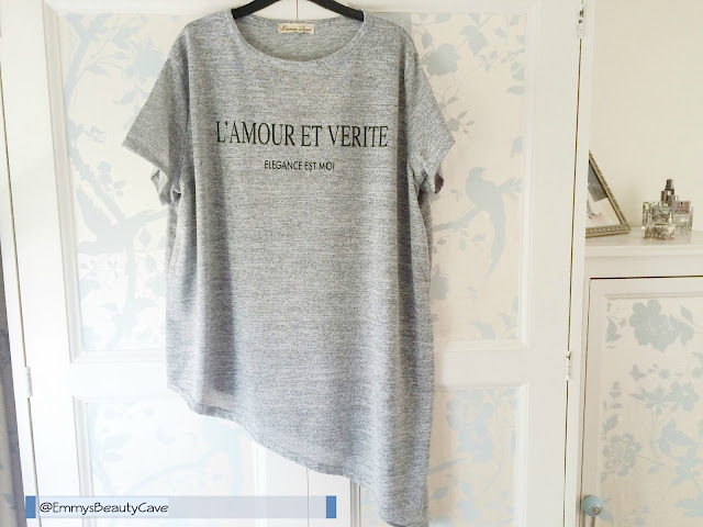 Cameo Rose Grey L'Amour Aysmmetric Top