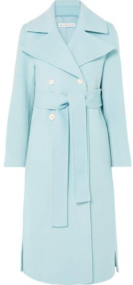 REJINA PYO - Simone Belted Wool-blend Felt Coat - Sky blue