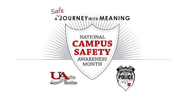 """Graphic with UACCM logo and text """"A Safe Journey with Meaning"""""""
