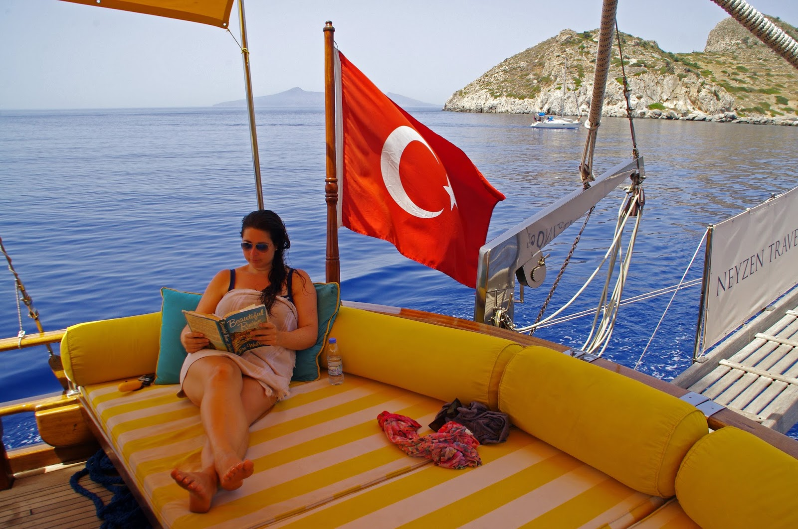 Relaxing on Turkey sailboat
