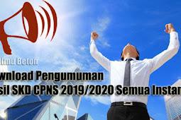 Download Pengumuman Hasil SKD CPNS 2019/2020 Semua Instansi