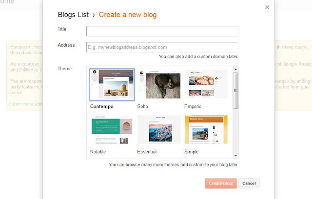google blogger hosting