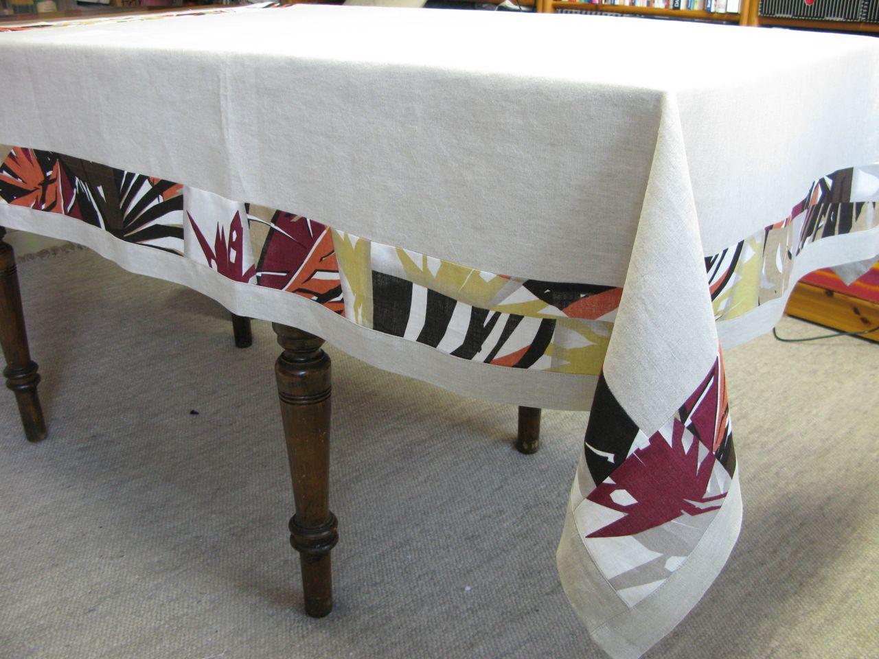 siebensachen zum selbermachen zwei tischdecken aus leinen. Black Bedroom Furniture Sets. Home Design Ideas