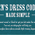 Men's Dress Codes Made Simple #infographic