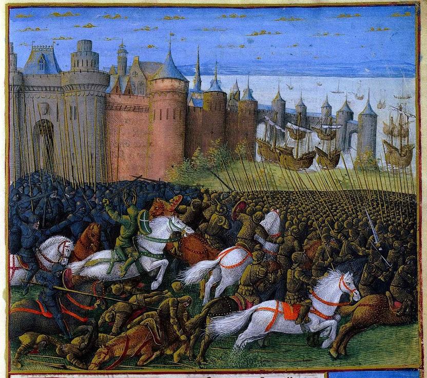 Batalha de Tiro, 1187. 'Les Passages d'Outremer'. Foto Wikipedia