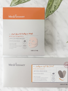 about me collagen face and neck mask